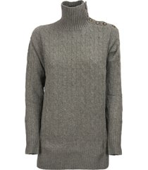 ralph lauren cable-knit turtleneck sweater