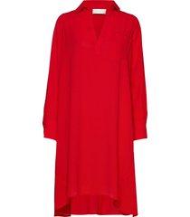 linea jurk knielengte rood fall winter spring summer
