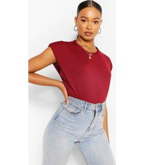 shoulder pad t-shirt, berry