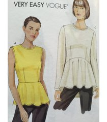 vogue sewing pattern very easy vogue 8815 misses top size 16-24 new