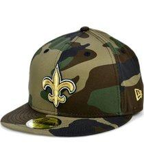 new era new orleans saints woodland 59fifty cap