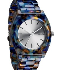 nixon 'the time teller watercolor' watch, 39mm x 37mm at nordstrom