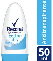 desodorante antitranspirante rexona feminino roll on cotton dry 50ml