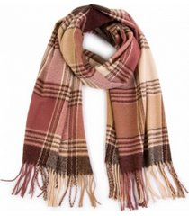 glitzhome plaid scarf with tassels