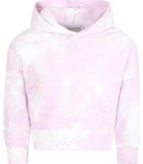 calvin klein multicolor sweatshirt for girl with logo