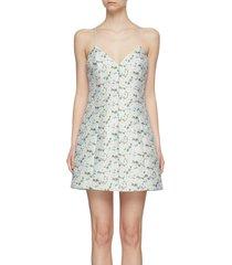 'tayla' floral print structured mini dress