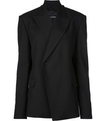 proenza schouler novelty oversized blazer - black