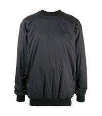 rick owens drkshdw jaqueta com zíper posterior - preto