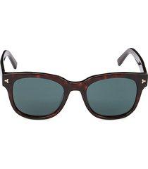 bally women's 51mm faux tortoiseshell square sunglasses - havana