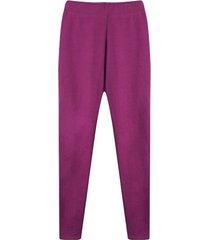 leggings mujer unicolor color morado, talla 6