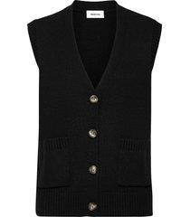 hedvig vest vests knitted vests zwart modström