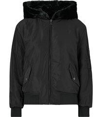 jacka / fuskpäls jdykacy reversible bomber jacket