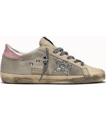 golden goose deluxe brand sneakers super star net-up colore argento
