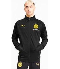 bvb softshell jacket, geel/zwart, maat s | puma