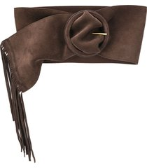 philosophy di lorenzo serafini fringe hem belt - brown