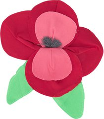 piccola ludo poppy appliqué brooch - red