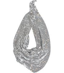 paco rabanne meshed triangle scarf