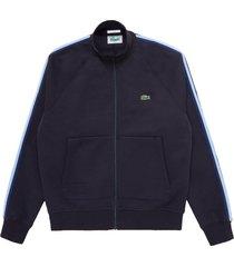 men's lacoste men's zip sweatshirt, size xx-large - black