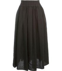aspesi long elastic waist skirt