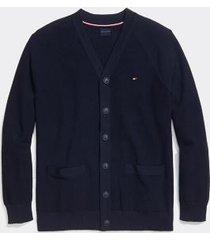 tommy hilfiger men's adaptive combed cotton cardigan sky captain - xxl