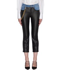 'melling' chain embellished panel jeans