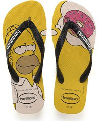 sandalias chanclas havaianas para hombre amarillo simpsons