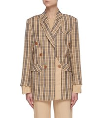 'leanna' double breast check blazer