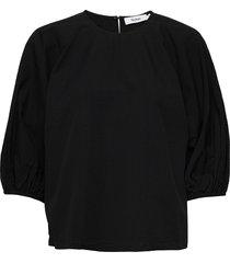julius top blouses short-sleeved zwart stylein