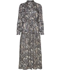 3343 - rayne/l jurk knielengte multi/patroon sand