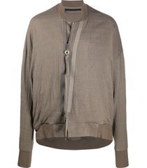 julius draped bomber jacket - grey