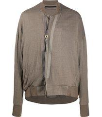 julius draped bomber jacket - grey