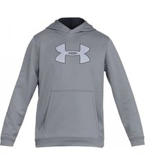buzo gris under armour performance fleece hoodie steel black