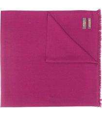 n.peal cachecol de cashmere com acabamento desfiado - rosa