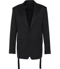 peak lapel wool blazer