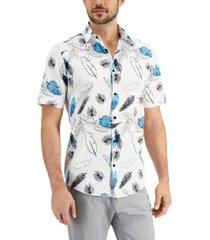 alfani men's new age flower shirt, created for macy's
