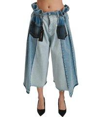 asymmetrische wide leg jeans