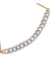wrapped in love diamond chain link bolo bracelet (1/4 ct. t.w.) in 10k gold, created for macy's