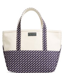 l.l.bean boat & tote high bottom canvas tote - blue