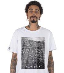 camiseta favela stoned branca