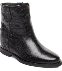 isa shoes boots ankle boots ankle boots with heel svart notabene
