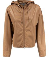 drome zipped leather jacket