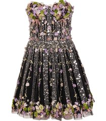 amen bustier dress with embroidery