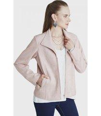 chaqueta cierre central rosa lorenzo di pontti