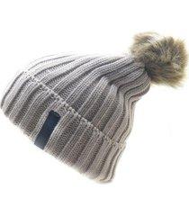 gorro de lana beanie snow beige flaw