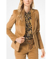 mk blazer in velluto a coste - cammello scuro (marrone) - michael kors