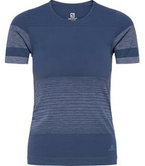 elevate move'on tee w t-shirts & tops short-sleeved blå salomon
