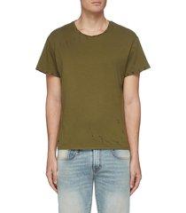 'core' distressed cotton t-shirt