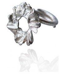 pierścionek srebrny rumianki