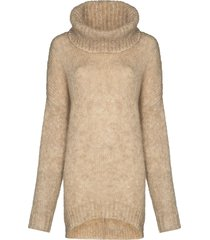 isabel marant roll neck knitted jumper - neutrals