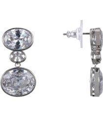 nina horizontal oval earrings